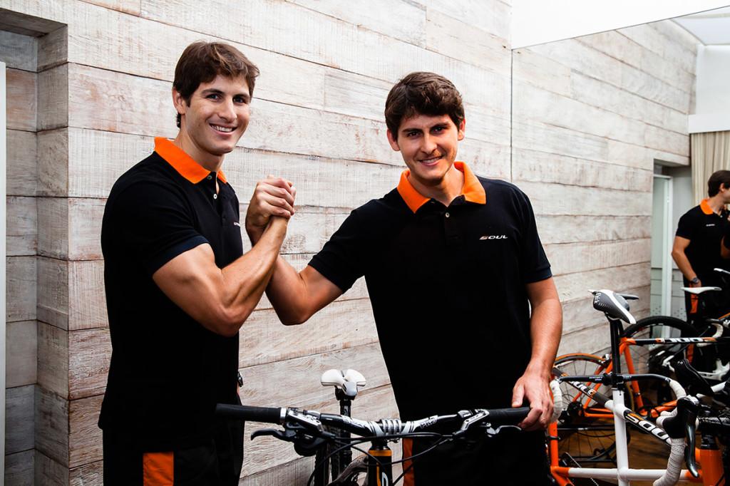 Os irmãos e atletas Guilherme e Ronny Renke